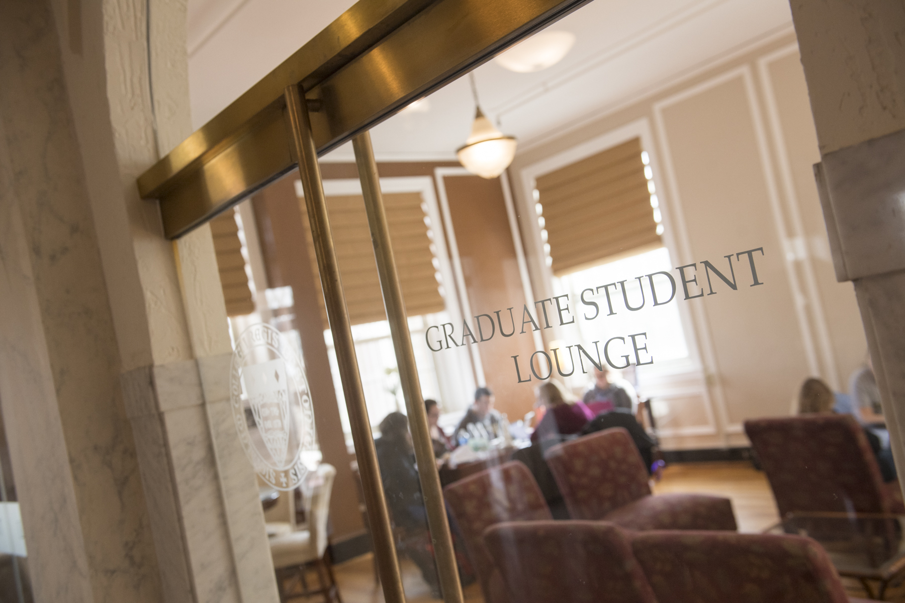 Admissions marketing photography at Regis College in suburban Boston