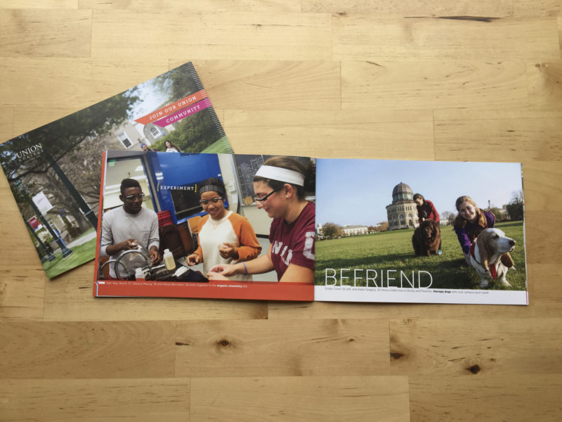 College and university admissions marketing images by Matthew Lester