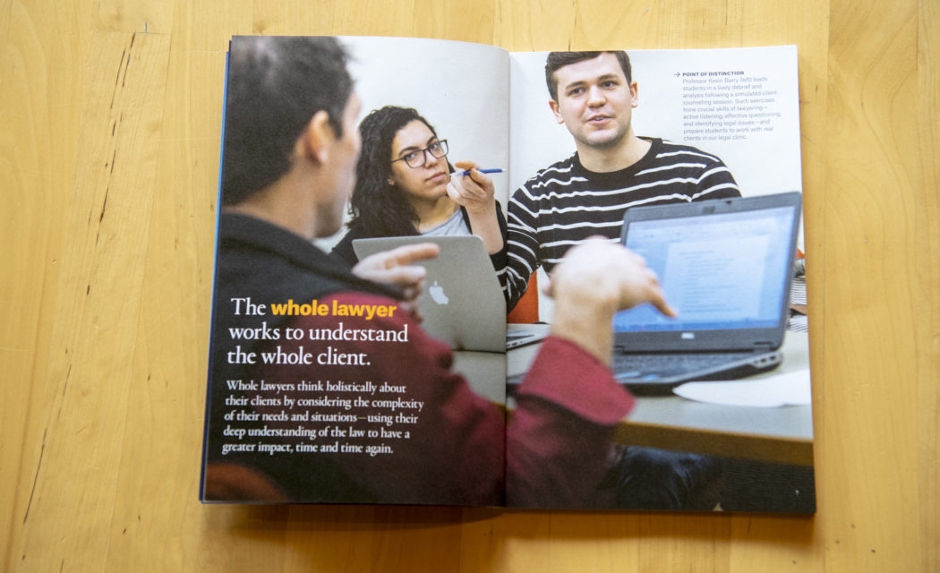 New published college and university admissions marketing photography by Matthew Lester
