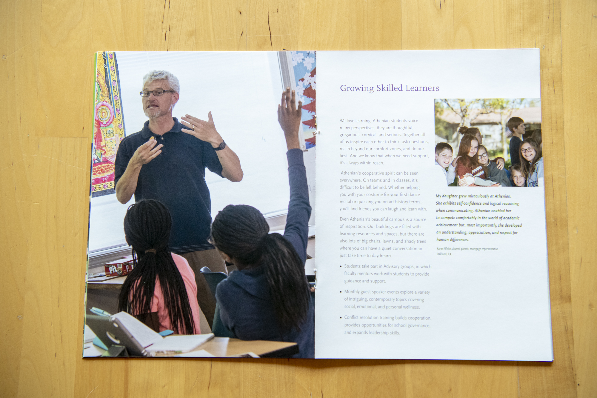 Viewbook Photography for the Athenian School – Matthew
