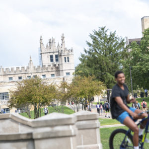 Higher education admissions photography