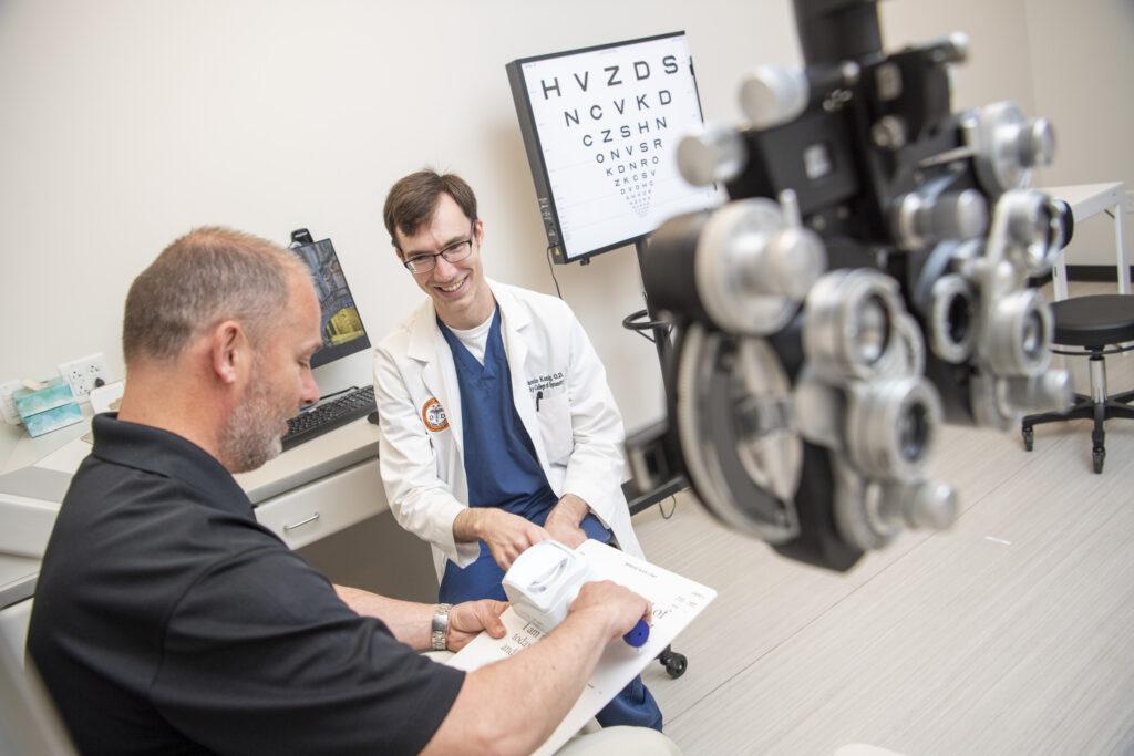 Optometry school marketing photography
